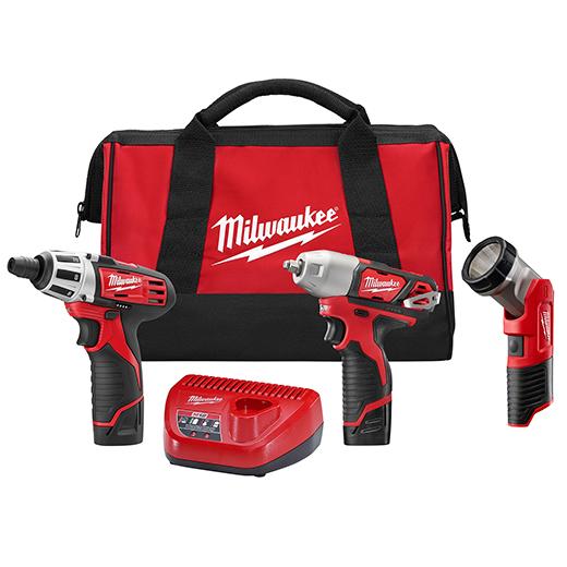 Milwaukee M12 Cordless 3 Tool Combo Kit
