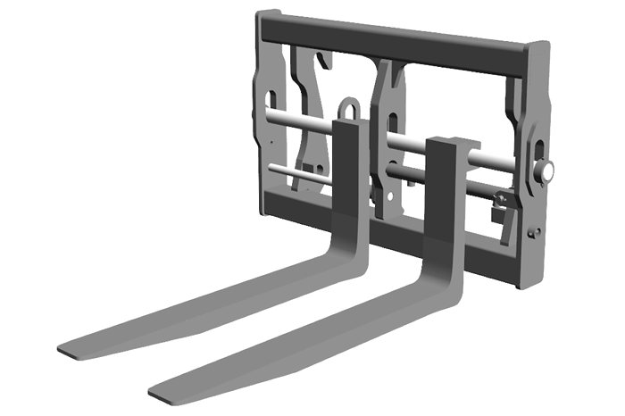 Pallet fork Floating - hydraulically adjustable