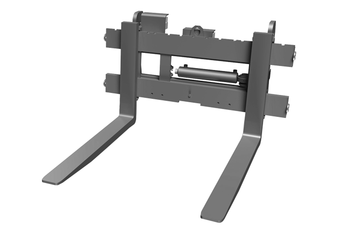 Pallet fork - with hydraulic side shift